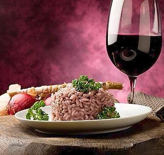 Chianti Risotto with Gorgonzola