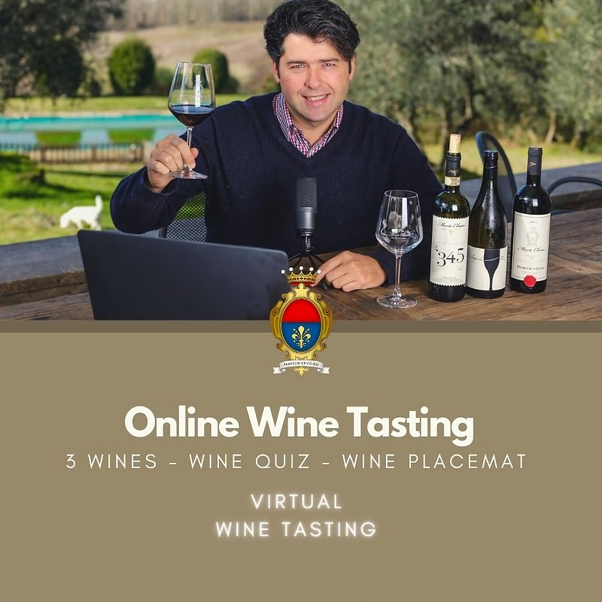 Online Wine Tasting for Privates - 3 wines - Ideal for 2 people