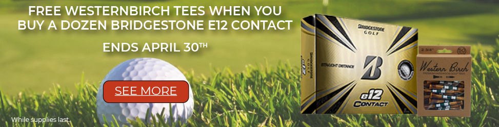 Bridgestone e12 Contact and Free Westernbirch Golf Tees