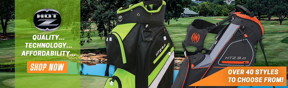 black and green golf stand bag
