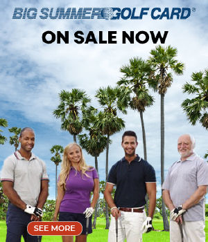 Group of Golfers Standing by Palm Trees