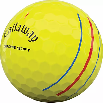 Callaway Chrome Soft Triple Trac - Yellow (Recycled)