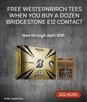 Bridgestone Golf e12 Contact and Westernbirch Golf Tees