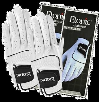 Etonic Stabilizer F1T Sport Gloves White (2 Pack)