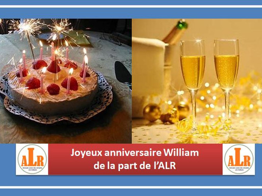 Joyeux anniversaire William