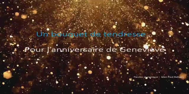 Joyeux anniversaire Geneviève