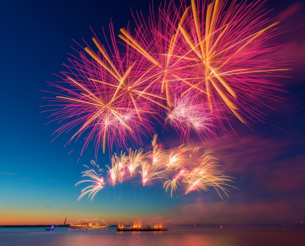 Fleet Review Fireworks