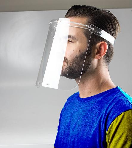 """Máscara de Proteção Facial Acrílica """"Face Shield"""""""