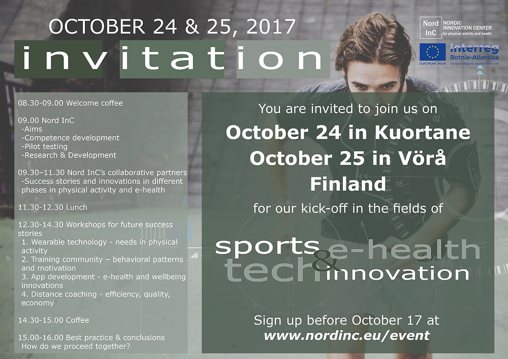 Invitation Nord InC kick-off event