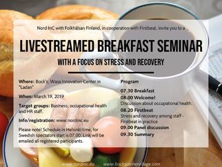 Stress & recovery - breakfast seminar