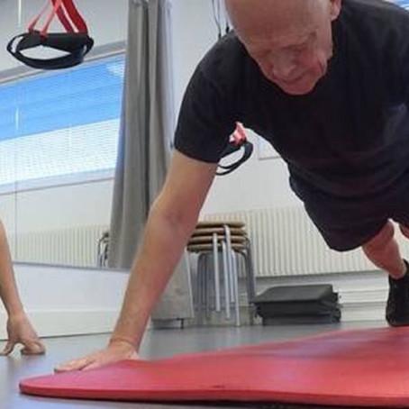Med träning går det att påtagligt öka både muskelmassa och funktion också på äldre dar