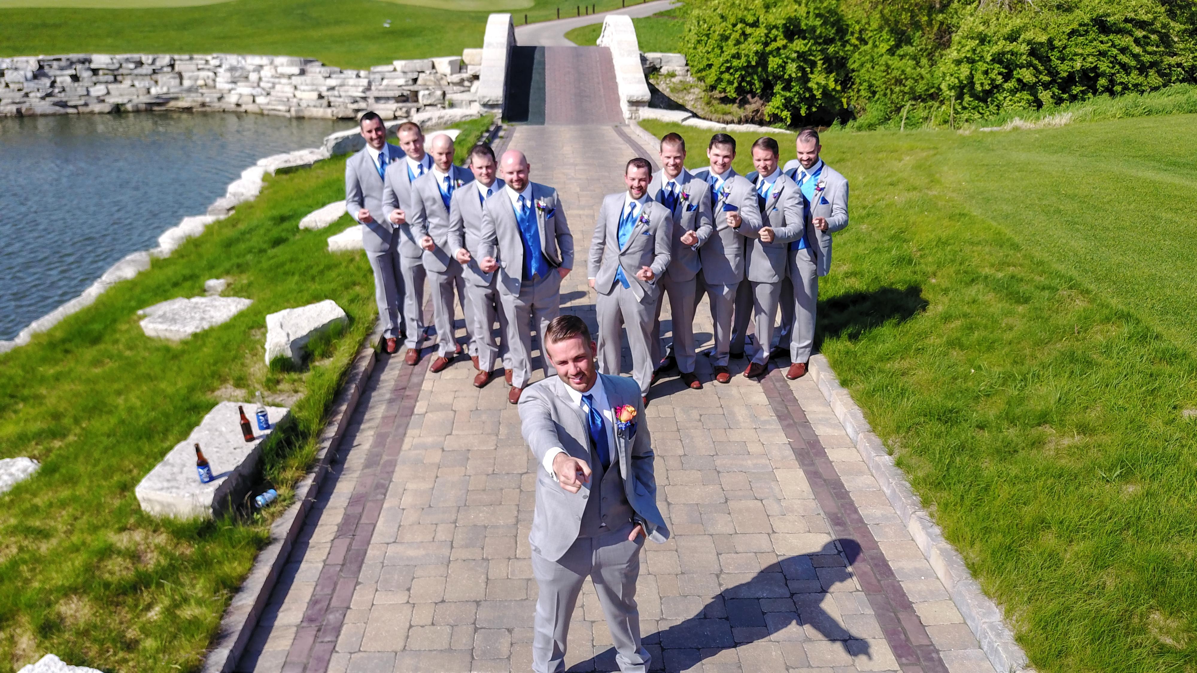 pointing man wedding