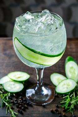 Gin Tônica de pepino