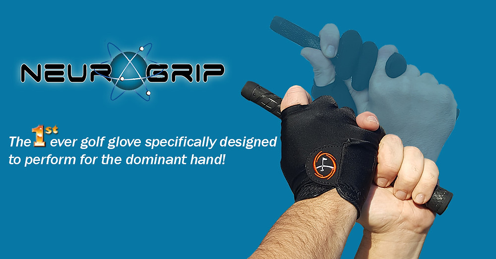 *Ads show Neurogrip only. Designed to be worn with other golf glove
