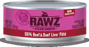 RAWZ 96% 牛肉、牛肝 全貓罐頭