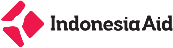 Indonesia Aid Primary Logo In Color On W