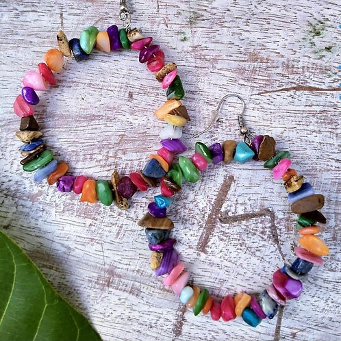 Women's multi-color stone earrings
