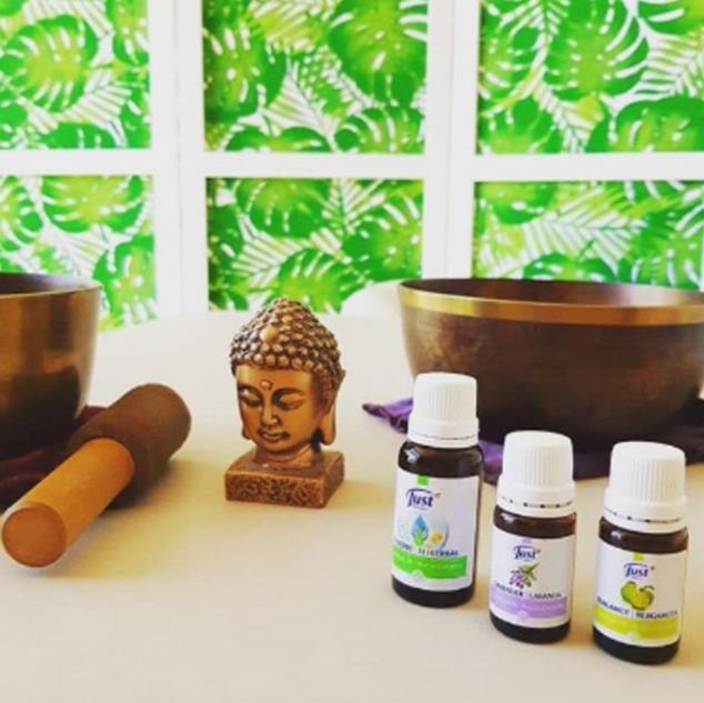Aromaterapia & Cuencos Tibetanos