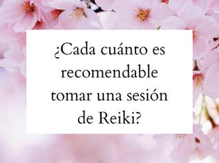 ¿Cada cuánto es recomendable tomar una sesión de Reiki?
