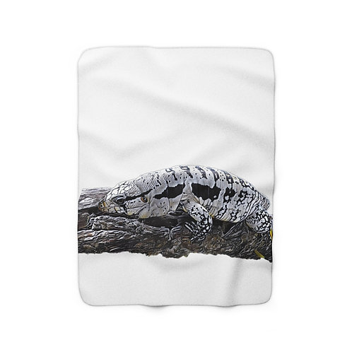 Blizzard Blue Tegu Sherpa Fleece Blanket. Tegu, Lizard, Reptile,   Tegu World