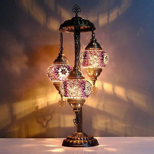 Turkish Lamp, 3 Globe Mosaic Table Lamp, Turkish Floor Lamp, Bedside Lamp