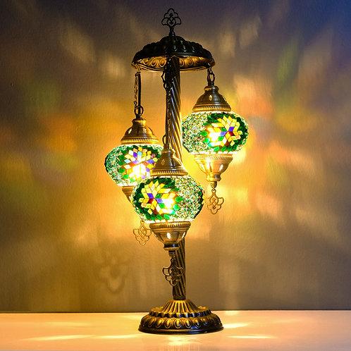 Turkish Lamp, 3 Globe Mosaic Table Lamp, Turkish Floor Lamp