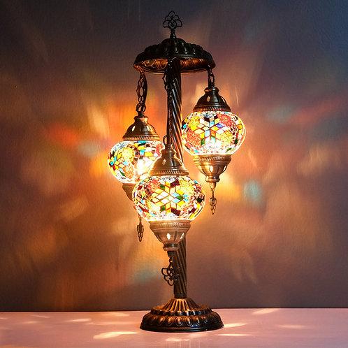 Turkish Lamp, 3 Globe Mosaic Table Lamp, Turkish Floor Lamp Kopyası Kopyası