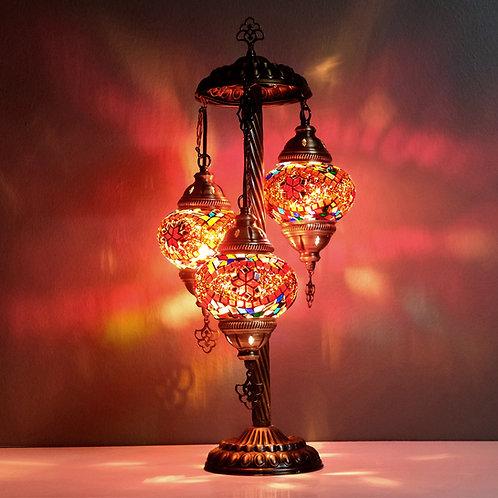 Turkish Lamp, 3 Globe Mosaic Table Lamp, Turkish Floor Lamp Kopyası