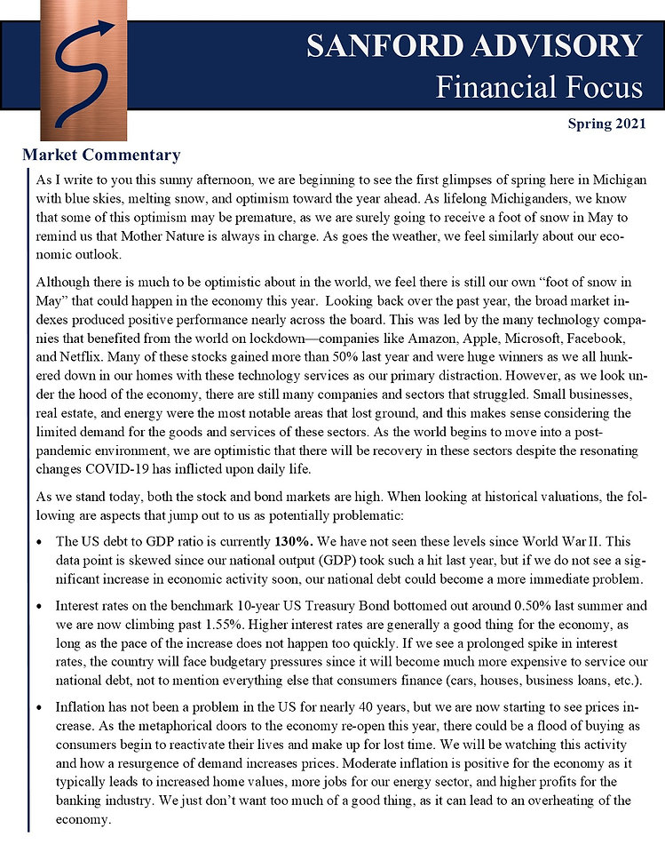 Newsletter, Spring 2021 - Mailchimp, Ima