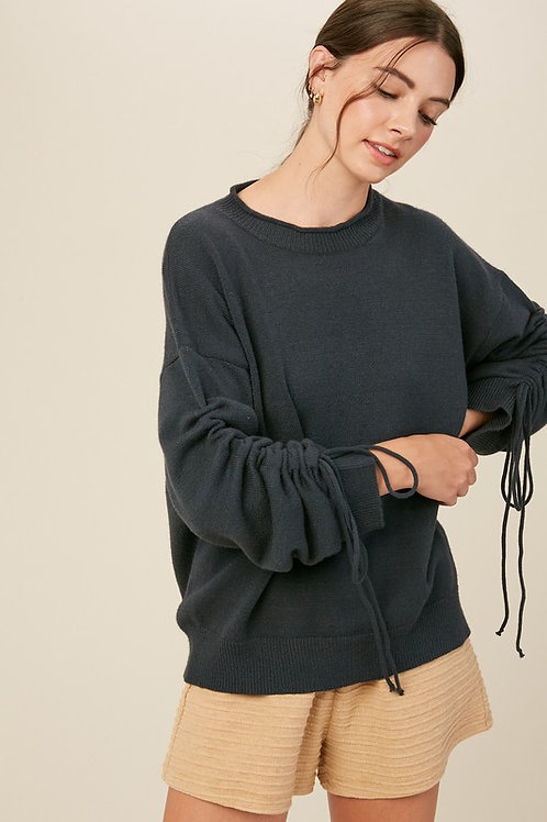 Ruche Sleeve Pullover PRE ORDER 12/14