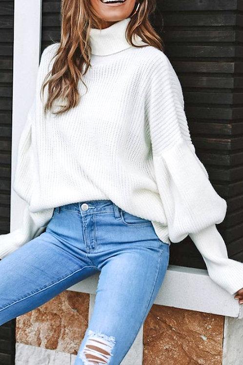 Puff Sleeve Knit Sweater