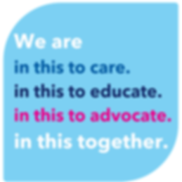 We are in this to care. in this to educa