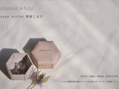 <almost white>オープンアトリエのお知らせ