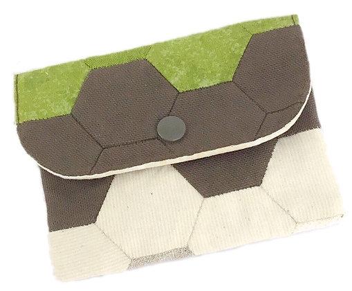 Mini pochette Patchwork marron
