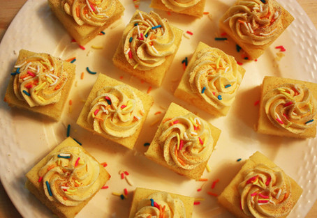 Vanilla Cake Squares