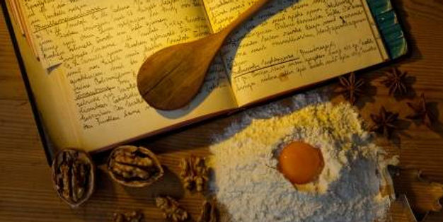 11153911-an-old-handwritten-cookbook-wit