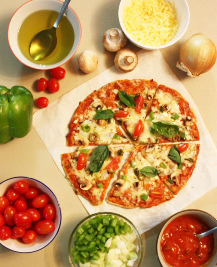 Sir Eat-a-Lot's Vegetarian Pizza