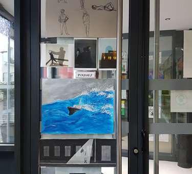 Exposition des travaux des élèves Arts plastiques