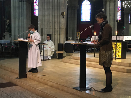 Messe de la fête de Saint Joseph à l'église Saint Jean Baptiste de Belleville