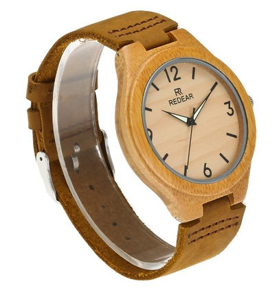 Bamboo Watch (Leather Strap)