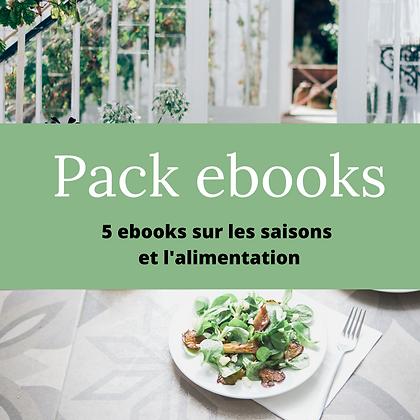 Pack 5 ebooks - Saisons + alimentation