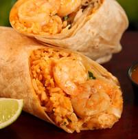 Camaron Enchilado Burrito