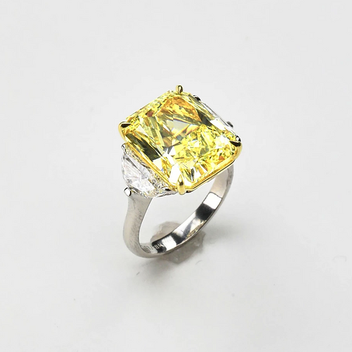 The Radiant Yellow Diamond Ring