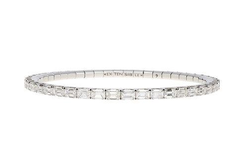 9 Carat Emerald Cut Diamond Tennis Bracelet