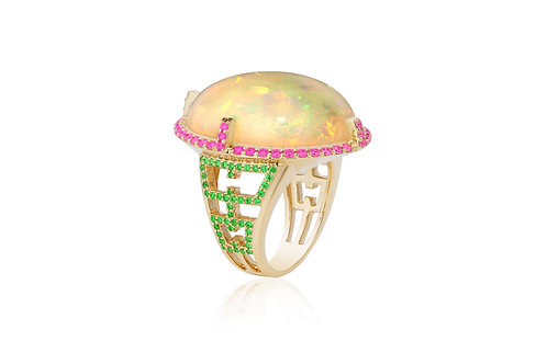 The Oval Opal Ring