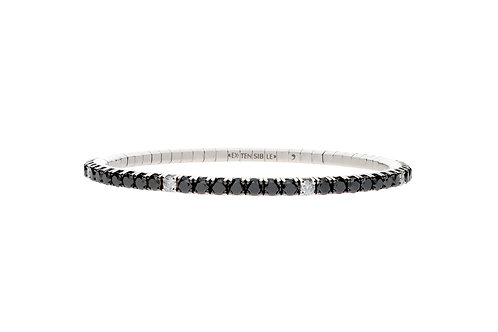 """6.5"""" White Spot Tennis Bracelet"""