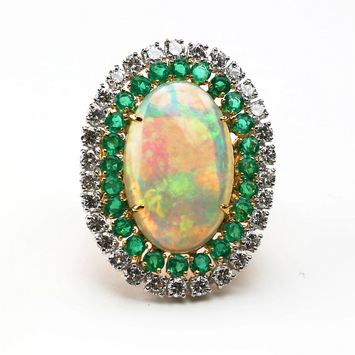 The Vintage Australian Opal Ring