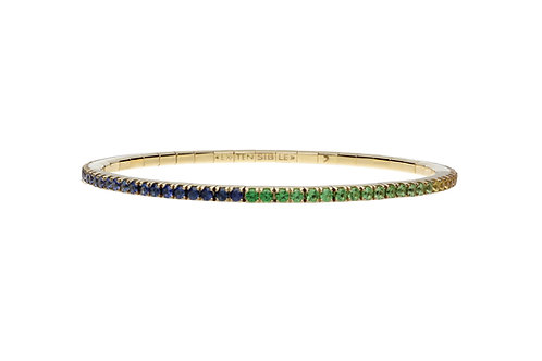 Green Sapphire Tennis Bracelet