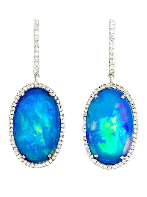 The Opal Diamond Earrings