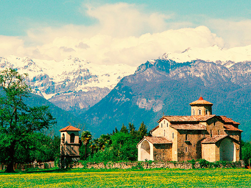 Село Лыхны Абхазия